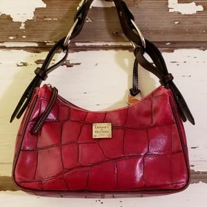 Red Croc Embossed Dooney & Bourke Shoulder Bag